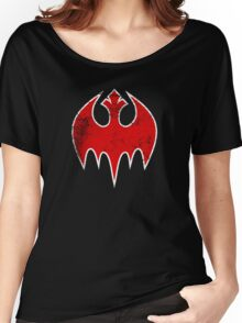 Rebel Bat (Distressed) Women's Relaxed Fit T-Shirt