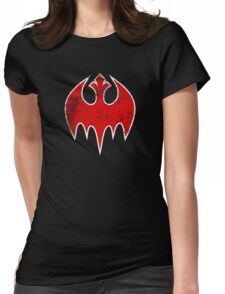 Rebel Bat (Distressed) Womens Fitted T-Shirt