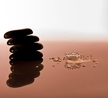 Zen Stones and Splash by Riaan Roux