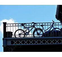bikes in bondage blue Photographic Print