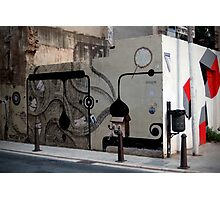 quirky street art feature wall Photographic Print