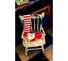 A Chair for Tiny Tim Photographic Print