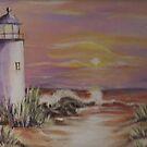Lighthouse Sunset by Pamela Plante