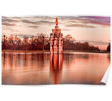 Bushy Park - Diana Fountain and Chestnut Avenue Sunrise Poster