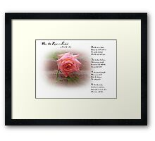 When the Rose is Faded Framed Print