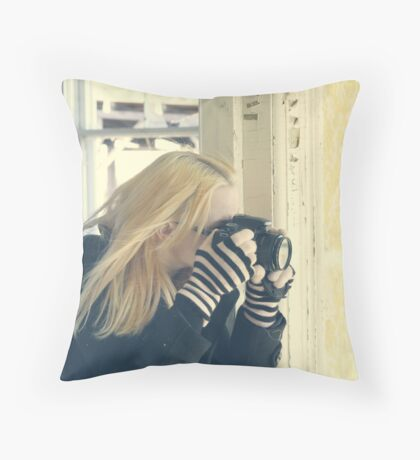 """""""To photograph is to hold one's breath, when all faculties converge to capture fleeting reality..."""" Henri Cartier-Bresson Throw Pillow"""