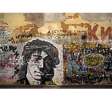 viktor tsoi street art in moscow Photographic Print