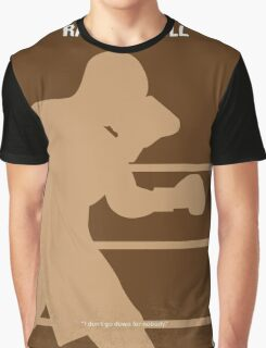 No174 My Raging Bull minimal movie poster Graphic T-Shirt