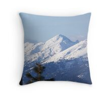 Snow Capped Peaks Throw Pillow