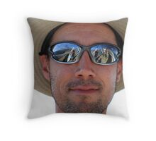 Bruce (and me, Gary, Graham and hang gliders) Throw Pillow