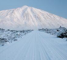 White road to Teide by Raico Rosenberg