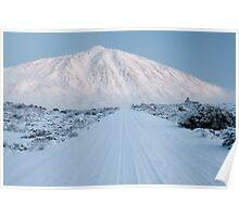 White road to Teide Poster