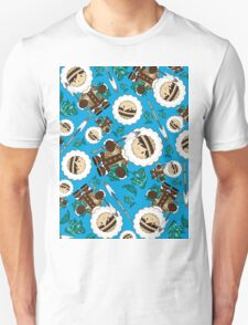 Cute Little Inuit Fisherman Pattern T-Shirt