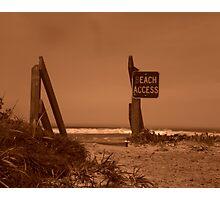 Beach Acess Photographic Print
