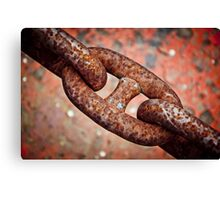 Rusted chain Canvas Print