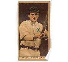 Benjamin K Edwards Collection Ward Miller Chicago Cubs baseball card portrait Poster