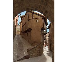Narrow streets and archways of Albarracin, Aragon, Spain Photographic Print