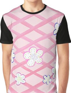 Baby Pink Flower Garden Graphic T-Shirt