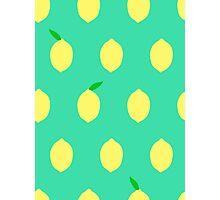 Cute Lemon Pattern Photographic Print