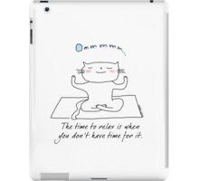 Yoga - meditation time / Cat doodles iPad Case/Skin