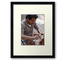 The Artist At The Island Of The River Cuale - El Artista En La Isla Del Rio Cuale Framed Print