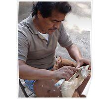 The Artist At The Island Of The River Cuale - El Artista En La Isla Del Rio Cuale Poster