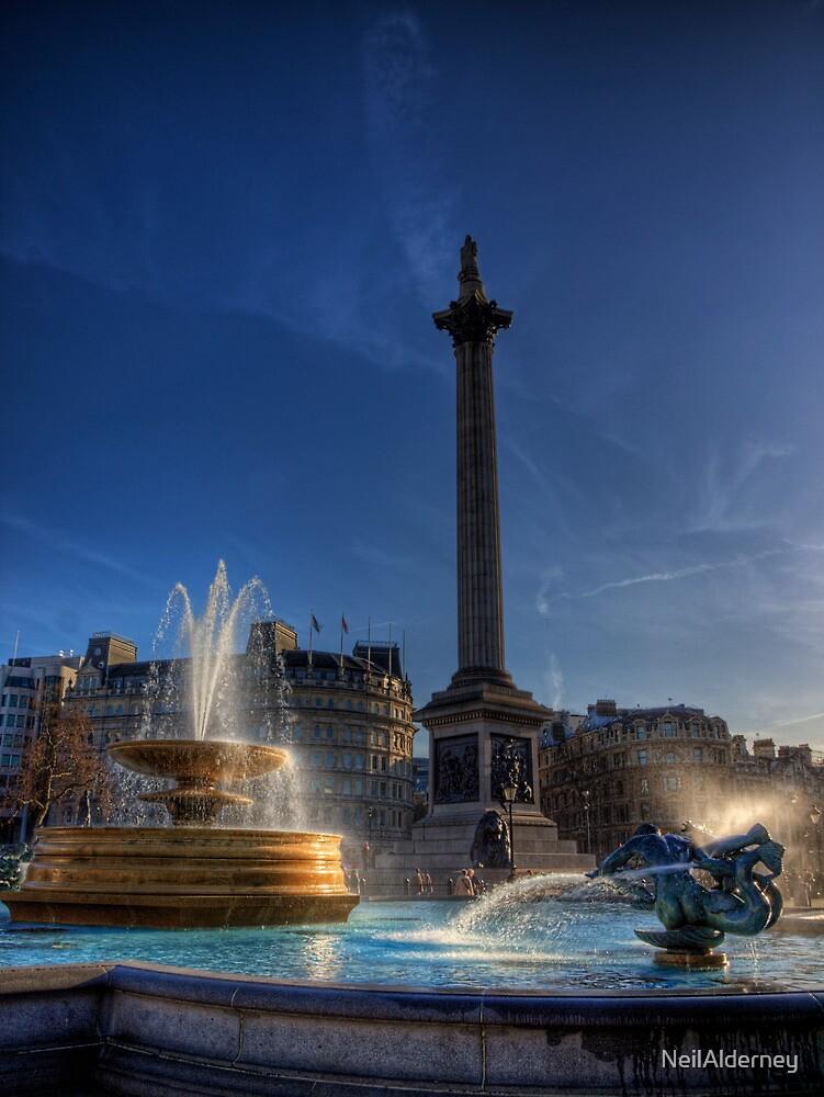 Trafalgar square in the morning by NeilAlderney