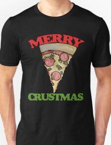 Merry CRUSTmas pizza christmas T-Shirt