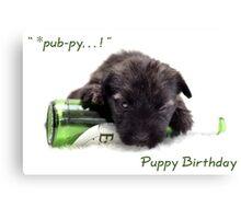 Puppy pub-py birhday Canvas Print