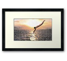 Diving into Freedom Framed Print
