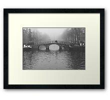 On the bridges of Amsterdam Framed Print