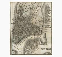 Vintage Map of New York City (1842) Unisex T-Shirt