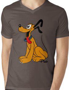 Pluto Mens V-Neck T-Shirt