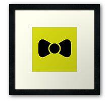 Black bow tie Framed Print