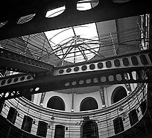 Circular Section, Panopticon, Kilmainham Gaol, Dublin by Lisa Hafey