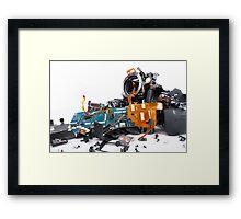 Broked DSLR camera Framed Print