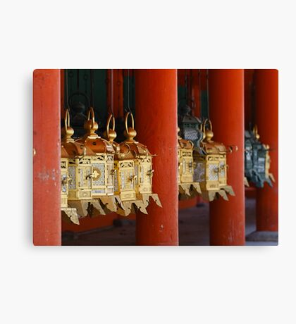 Golden Japanese latern Canvas Print