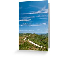 Road on the hills Greeting Card