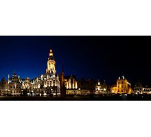Night panorama of Verne,  Belgium Photographic Print