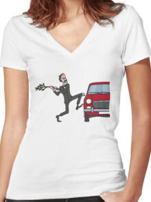 Basil's Fury Women's Fitted V-Neck T-Shirt