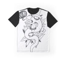 Poor Mr. Snake BW Graphic T-Shirt