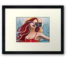 The Morrigan calling the crows Framed Print