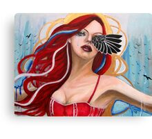 The Morrigan calling the crows Canvas Print