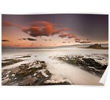 Bamburgh Sunset Poster
