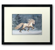 Winter Storm .. the stallions tale Framed Print