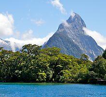 Mitre Peak#1, Milford Sound, South Island, New Zealand. by johnrf