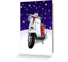 Mod Scooter (Lambretta) Special Christmas Card Greeting Card