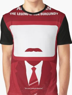 No278 My Anchorman Ron Burgundy minimal movie poster Graphic T-Shirt