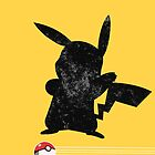 Pikachu Black and Grey iCASE w/ Pokeball Stripes by HighDesign