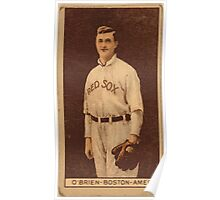 Benjamin K Edwards Collection Buck O'Brien Boston Red Sox baseball card portrait Poster